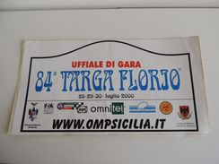 X BIG 21X42 Adesivo Stiker Etiqueta PLACCA RALLY 84 TARGA FLORIO - Automobilismo - F1