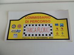 X MAX BIG CM.20X42 Adesivo Stiker Etiqueta PLACCA RALLY 89 TARGA FLORIO CP - Automobilismo - F1