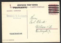 Postkarte Deutsche Post Osten Krakau ( LUDEVR  ) - 1939-44: 2. WK