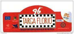 X Adesivo Stiker Etiqueta IRC RALLY 96^ TARGA FLORIO 2012 PLACCA RALLY CM. 13 X 6 - Automobilismo - F1