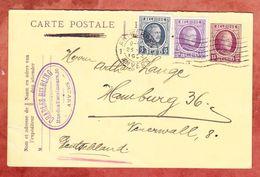 P 86 Frageteil + ZF Koenig Albert, Charles Helbling Anvers, MS Antwerpen, Nach Hamburg 1924 (44529) - Ganzsachen
