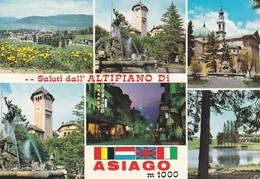 SALUTI DALL ALTIPLANO DI ASIAGO 1000M MULTI VIEW VU ED TAB G CARLI TBE-BLEUP - Vicenza