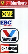 X 6 FERRARI-marlboro OMP EBC VALVOLINE CHAMPION Adesivo Stiker Etiqueta Tuning - Automobilismo - F1