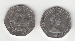 Jersey 50p Decimal 1988 (Large Format) Circulated - Jersey
