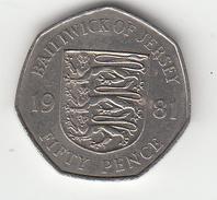 Jersey 50p Decimal 1981 (Large Format) Circulated - Jersey