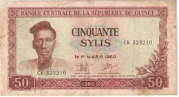 50 SYLIS/Banque Centrale De La République De GUINEE//1960 - 1980                                             BILL171 - Guinée