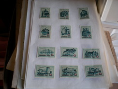 Drava Cities Of Yugoslavia Blue, Green 24 Pieces - Scatole Di Fiammiferi - Etichette