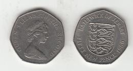 Jersey 50p Decimal 1980 (Large Format) Circulated - Jersey