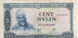 100 SYLIS/Banque Centrale De La République De GUINEE//1960- 1980                                             BILL172 - Guinée