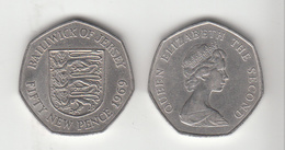 Jersey 50p Decimal 1969 (Large Format) Circulated - Jersey