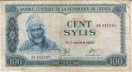 100 SYLIS/Banque Centrale De La République De GUINEE//1960 -1980                                           BILL173 - Guinée