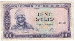 100 SYLIS/Banque Centrale De La République De GUINEE /1960/1971                                              BILL174 - Guinee