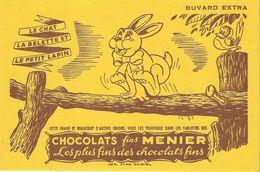 BUVARD ANCIEN CHOCOLAT FINS MENIER (LE CHAT LA BELETTE ET LE PETIT LAPIN) - Cocoa & Chocolat