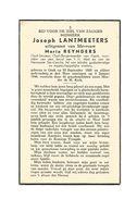 764. Joseph LANTMEETERS - Oud-Strijder / Oud-Burgemeester GENK Voorzitter Bond H.Hart Ebn Harmonie  - GENK 1888/1946 - Devotion Images