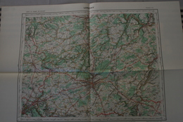 LONGWY P5, Carte IGN 1/100 000°éditée 1957 = Gd Duché LUXEMBOURG > Ettelbruck > Echternach > Mondorf > Differdange - Topographical Maps