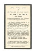 765. MARIA LENAERS - Jonge Dochter - °HENIS 1865  /  +TONGEREN 1935 - Images Religieuses