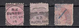 New Zealand  Victoria  3 Valeurs - 1855-1907 Colonie Britannique