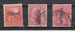 New Zealand  Timbres De Service  3 Valeurs - 1855-1907 Colonie Britannique