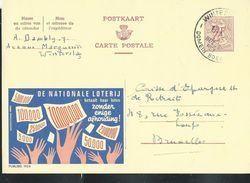 Publibel Obl. N° 1924  ( De Nationale Loterij  ) Winterslag Le 12/01/1964 - Entiers Postaux
