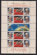 GUINEE BLOC N°   14 & 15 ** MNH Neufs Sans Charnière, TB (CLR066) Cosmos,surcharge Alunissage De Luna 9 & 10 -1966 - República De Guinea (1958-...)