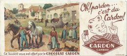 BUVARD ANCIEN CHOCOLAT CARDON / CAMBRAI N° 19460 - Cocoa & Chocolat