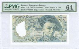 FRANCE 50 FRANCS 1989 PMG 64 UNC  Free Shipping Via Registered Air Mail - 1962-1997 ''Francs''