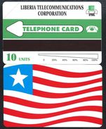 LIBERIA FLAG - URMET - 1995 LIBERIAN FLAG 10 UNITS Drapeau - MINT URMET Neuve - Liberia