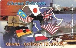 *GHANA* -  Scheda A Chip Usata - Ghana
