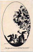 SILHOUETTE POSTAL CARD. Die Fünf Sinne (Der Geschmack) By Elsbeth Forck - Silhouette - Scissor-type