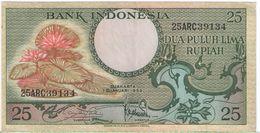 25 Rupiah/ Bank Indonesia//  1959                                                     BILL180 - Indonesia