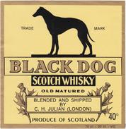 """SCOTCH WHISKY  """" BLACK DOG """"  Produce Of SCOTLAND / CHIEN - Whisky"""