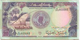 20 Sudanese Pounds/ Bank Of Sudan //  1991                                                     BILL181 - Soudan