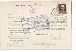 15716 COMUNE DI ARSIA POLA X TRIESTE - 1900-44 Vittorio Emanuele III