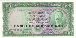 100 Escudos/ Banco Nacional Ultramarino /Banco De Mozambique//  1961                                          BILL182 - Mozambique