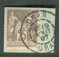 Superbe N° 97 Cachet D'Oran ( 1897 ) - 1876-1898 Sage (Type II)