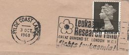 1968 GB COVER SLOGAN Fight LEUKAEMIA , RESERCH FUND, GREAT ORMOND STREET Cancer Health Medicine Stamps - Disease