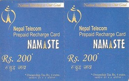 *NEPAL* -  Coppia Unita Di Minicards - Nepal