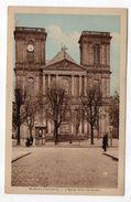 BELFORT  -- L'église Saint Christophe (petite Animation) --- Carte Colorisée  Pas Très Courante - Belfort - Ville