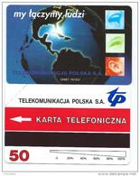POLAND 43 - 50 U My Laczymy Ludzi Odwrotka URMET Neuve Mint - Pologne