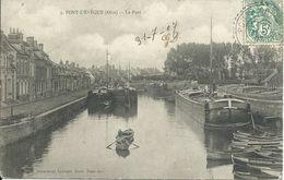 Pont L'Evque : Le Port. Péniches Et Barques. - Creil