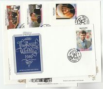 1986 TUVALU  4 Different FDCs ROYAL WEDDING Stamps Cover Fdc Royalty - Tuvalu