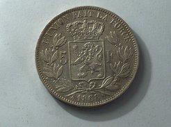BELGIQUE 5 Francs 1868 Argent Silver Belgium - 1865-1909: Leopold II