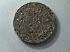 BELGIQUE 5 Francs 1871 Argent Silver Belgium - 1865-1909: Leopold II
