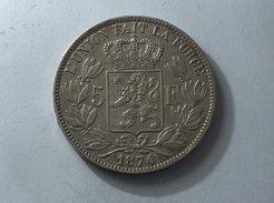 BELGIQUE 5 Francs 1874 Argent Silver Belgium - 1865-1909: Leopold II