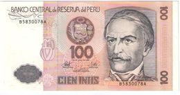 Cient Intis/Banco Central De Reserva Del Peru/1987                BILL187 - Peru