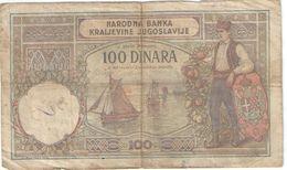 100 Dinara/Narodna Banka Kraijevine Jugoslavije/1929                BILL188 - Yugoslavia