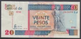 2008-BK-55 CUBA 20$cuc 2008 CAMILO CIENFUEGOS REPLACEMENT REEMPLAZO SERIE EZ XF - Cuba