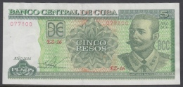 2016-BK-44 CUBA 5$ 2016 ANTONIO MACEO. REPLACEMENT REEMPLAZO. SERIE EZ. XF - Cuba