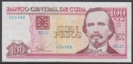 2016-BK-45 CUBA 100$ 2016 CESPEDES. REPLACEMENT REEMPLAZO. SERIE AZ. XF - Cuba