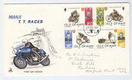 1974 ISLE OF MAN FDC Motorbike TT RACES Motorcycle Racing Sport Cover - Motorbikes